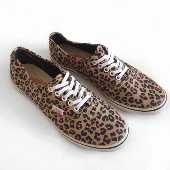 leopard print vans trainers